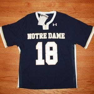 Under Armour Notre Dame Stitched Lacrosse Jersey